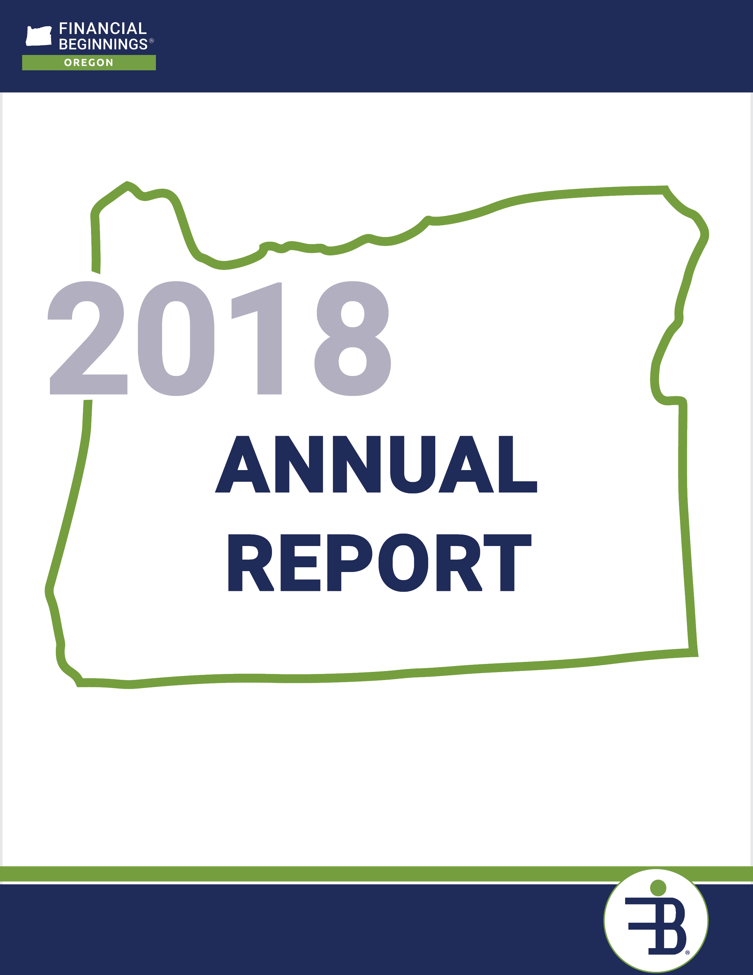 Financial Beginnings Oregon 2017 - 2018 Annual Report